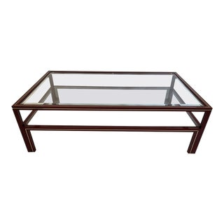 Mid-Century Modern Pierre Vandel Two-Tier Coffee Table For Sale