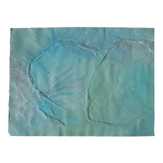 Late 20th Century Blue Green Abstract Collage For Sale