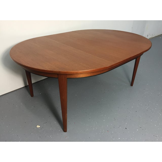 Danish Modern Solid Teak Expandable Dining Table - Image 3 of 11