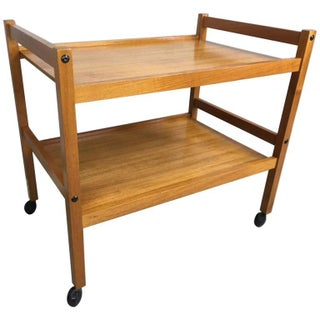 Danish Two-Tier Teak Bar Cart