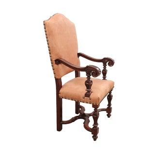 19th Century Leather Throne Chair Preview
