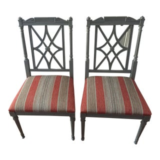 21st Century Hickory London Dining Chairs - A Pair For Sale