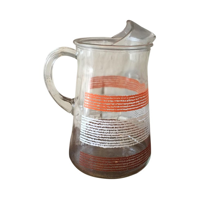 Libbey Glass Pitcher With Stripes - Image 1 of 5