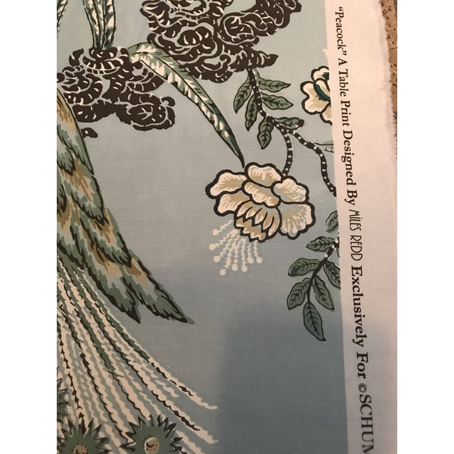 """Traditional Miles Redd for Schumacher """"Peacock"""" in Aqua Chintz Fabric - 2 1/2 Yards For Sale - Image 3 of 8"""