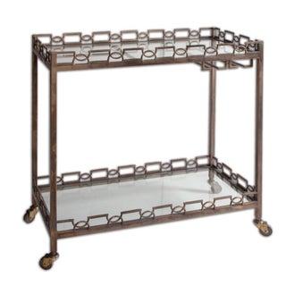 Metal Glam Bar Cart For Sale