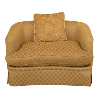 TRS Upholstered Small Loveseat W. Down Cushion For Sale