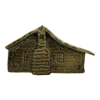 Rare George Ohr Log Cabin