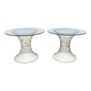 Vintage Platner-Style Side Tables - A Pair