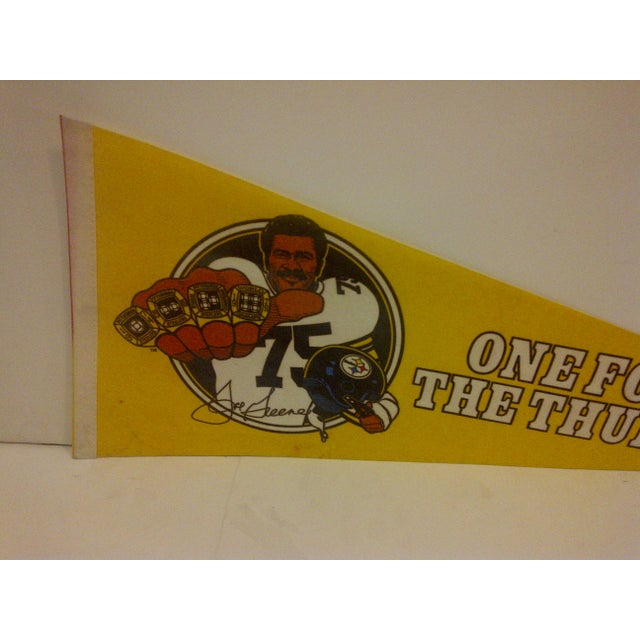 Contemporary Vintage 1981 Pittsburgh Steelers Pennant Flag For Sale - Image 3 of 5