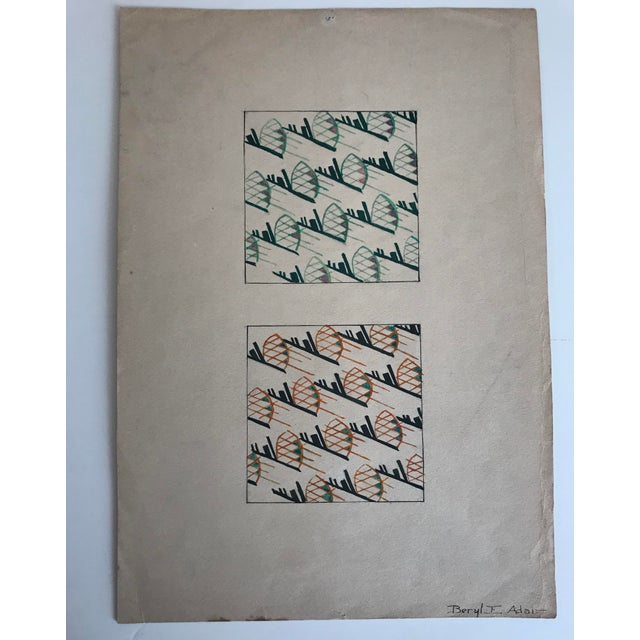 Fabric Twelve Fashion Designs by University of Washington Student, 1929 For Sale - Image 7 of 13