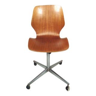 Mid-Century Modern Bentwood Desk Chair For Sale