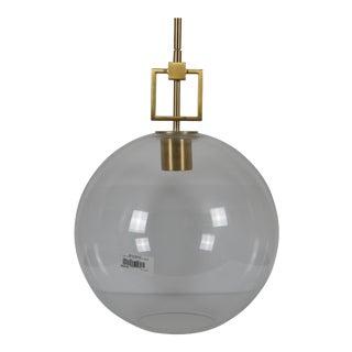 Ballard Designs Modern Fiona Glass Globe Brass Pendant Ceiling Bar Light