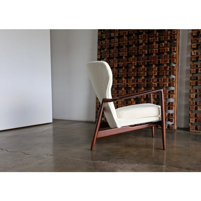 White Ib Kofod-Larsen Wingback Lounge for Selig, Circa 1965 For Sale - Image 8 of 13