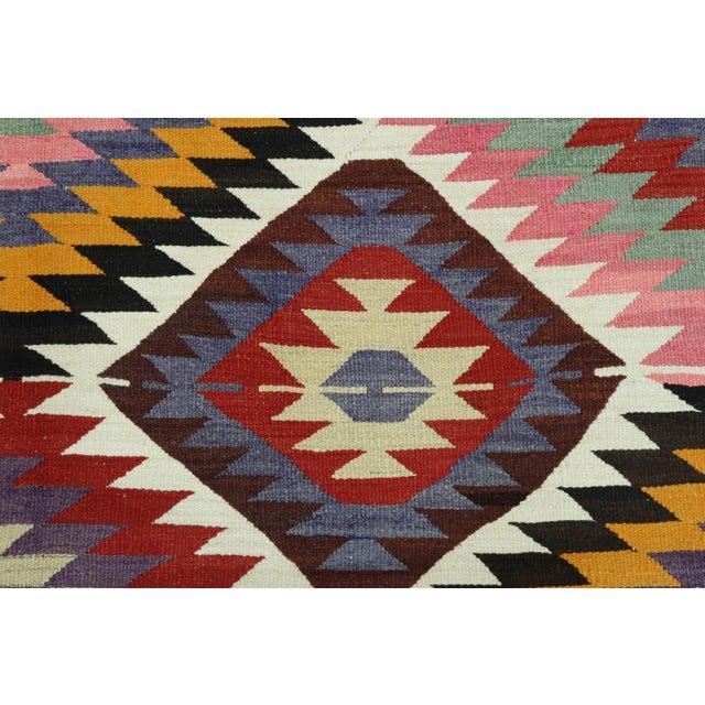 Vintage Turkish Kilim Rug For Sale - Image 10 of 13