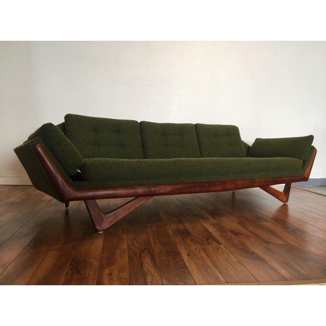 Adrian Pearsall Craft Associates Mid-Century Gondola Sofa - Image 9 of 11