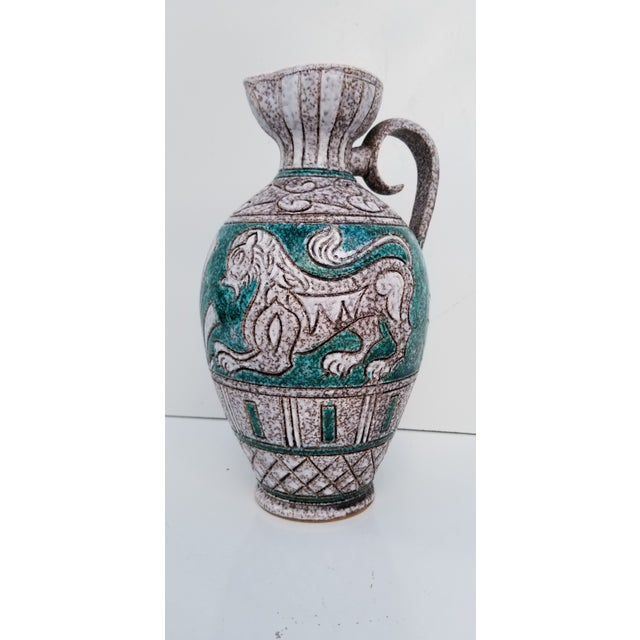 Italian Hand Painting Studio Pottery Vase For Sale - Image 12 of 12