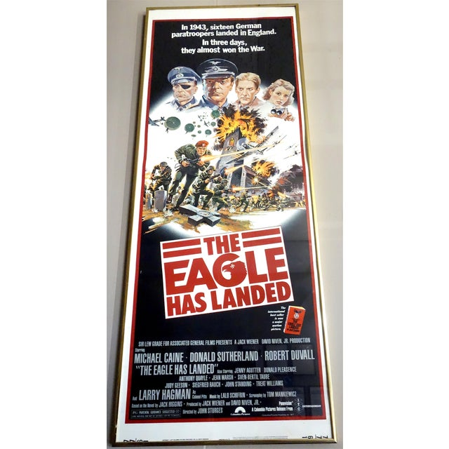 """Americana Movie Poster 1976 """"The Eagle Has Landed"""" Wirth Michael Caine, Donald Sutherland. Very Rare Poster. For Sale - Image 3 of 3"""
