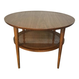 Vintage Lane Mid Century Modern Round End Table For Sale