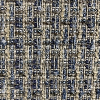 "Designer Blue ""Chanel"" Textured Fabric For Sale"