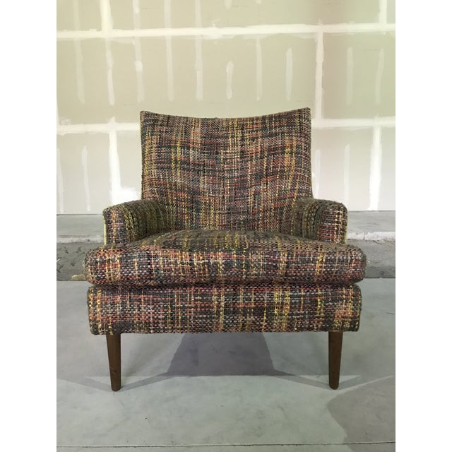 Lawrence Peabody High Back Lounge Chair Model 9203 for Nemschoff : Peabody Collection Ash / Elm / Walnut Chair and ottoman...