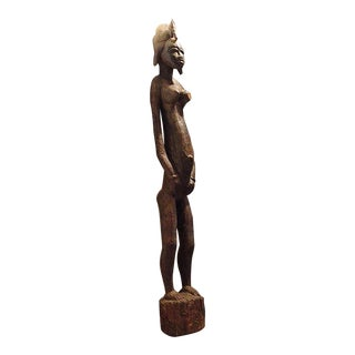 Antique African Female Fertility Statue, Bangwa Congo For Sale