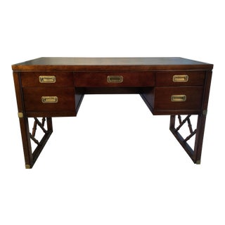 Sligh Furniture Campaign Style Desk For Sale