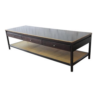 "Paul McCobb for Calvin ""Irwin Collection"" Double-Sided Leather Top Coffee Table For Sale"