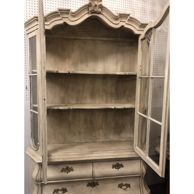 Shabby Chic 19th Century Painted Dutch Bombé Cabinet For Sale - Image 3 of 8