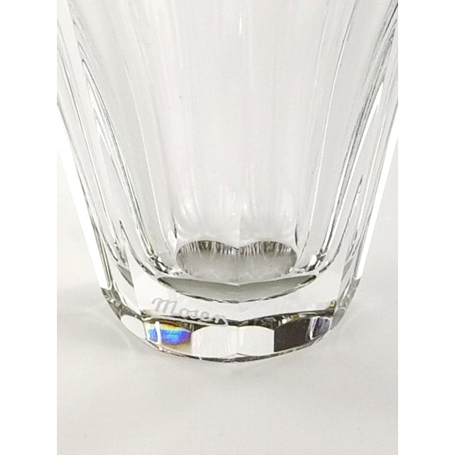 """1990s Vintage Moser """"Diva"""" Crystal Vase Gilded Band in a Classical Pattern For Sale - Image 5 of 10"""