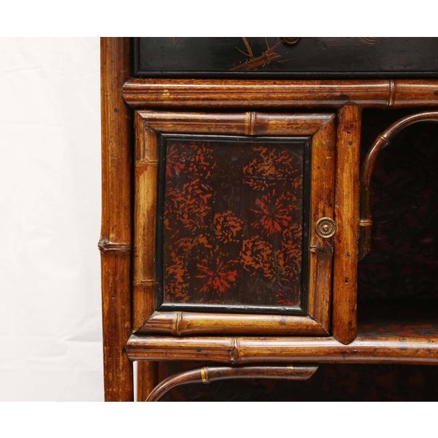 English 19th Century English Bamboo Cabinet For Sale - Image 4 of 9