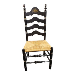 Mid 20th Century Hitchcock Style Ladder Back Chair For Sale