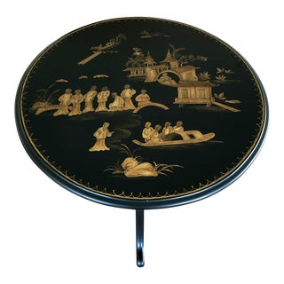 Chinoiserie Flip Top Round Tea Table For Sale