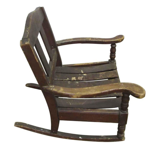 Miniature Wooden Rocking Chair For Sale - Image 6 of 8