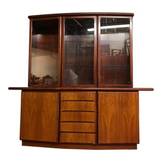 Skovby Mid-Century Rosewood Sideboard and Hutch - Made in Denmark For Sale