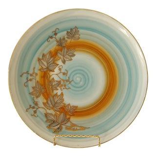 1980s Vintage Noritake 102 Wild Ivy Pattern Hand Painted Signed Plate For Sale
