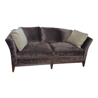 Sherrill Brown Velvet Sofa