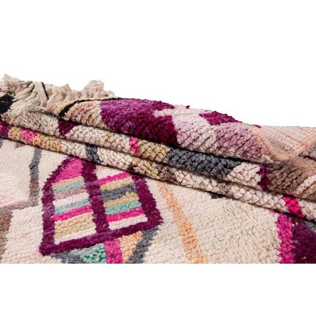 Beige Vintage Azilal Moroccan Wool Rug For Sale - Image 8 of 12