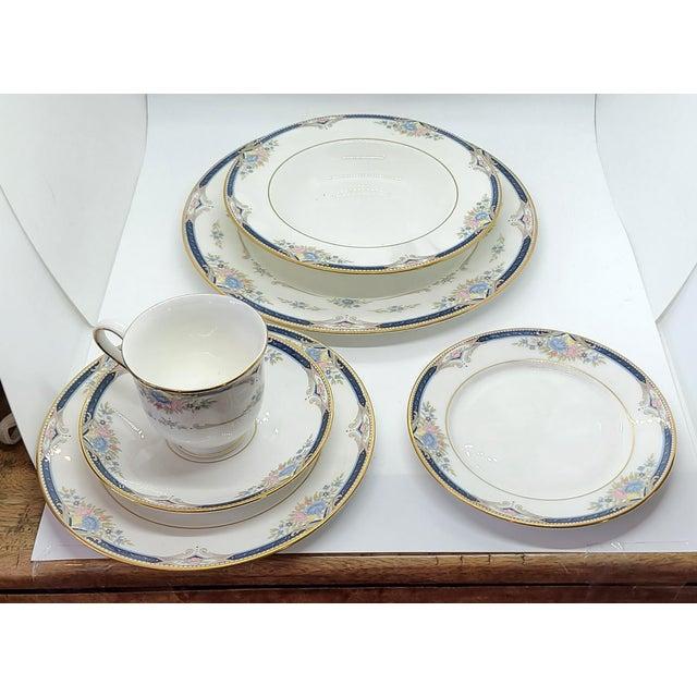 6 Piece Service for 12 Lenox Abigail Porcelain China Dinnerware Set, 1990s ~ Mint ~ For Sale - Image 10 of 13