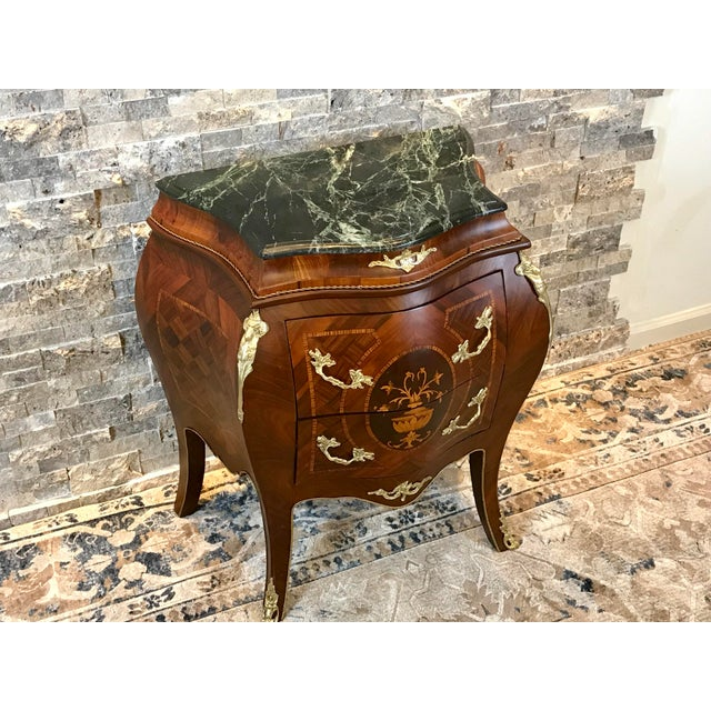Gold Louis XV Empire Marble Top Side Table For Sale - Image 7 of 10