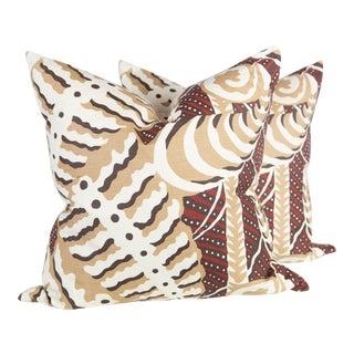 Custom Rust Ferns Uni Pillows - a Pair