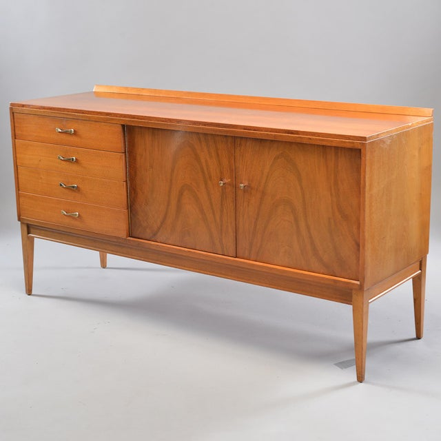 Danish Modern Mid-Century English Walnut Sideboard For Sale - Image 3 of 13