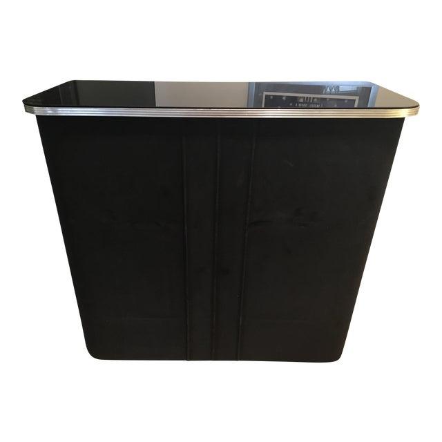 Art Deco Black Velvet Bar - Image 1 of 6