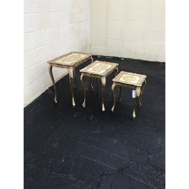 Gold Guilded Nesting Tables - Made in Italy - Image 10 of 10