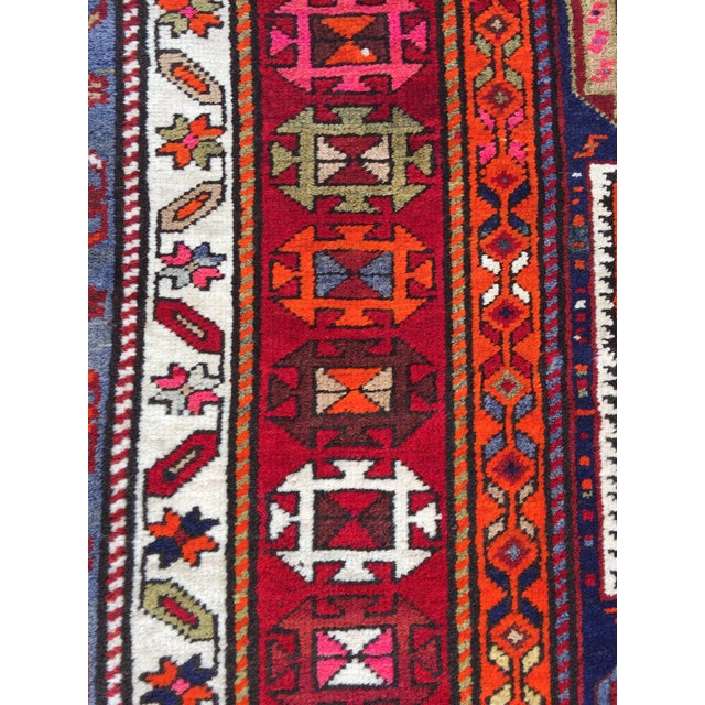 Vintage Turkish Tribal Hand Knotted Runner - 3′10″ × 10′3″ For Sale - Image 9 of 11