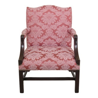1940s Vintage High Quality Chippendale Library Chair For Sale