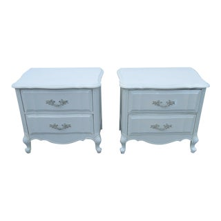 French Painted Nightstands - a Pair For Sale
