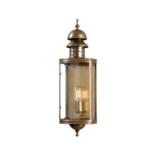 Downing Street Brass Wall Lantern For Sale