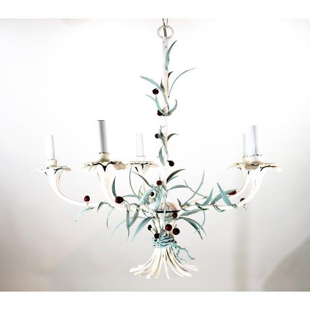 Italian Tole Chandelier For Sale - Image 9 of 9