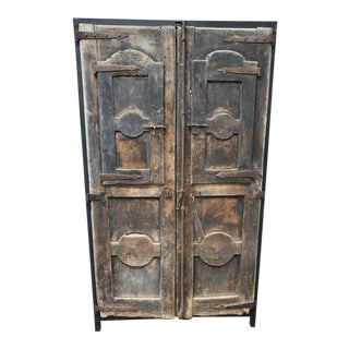 Custom Modern Organic Cabinet Designed With 18th Century French Shutters For Sale