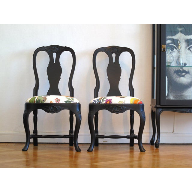 Classic Rococo Chair - Josef Frank - a Pair (DaVinci Collection) For Sale - Image 4 of 5